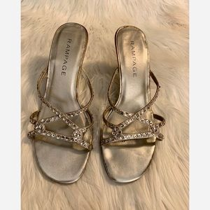 Rampage sequence slip on sandals